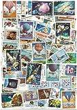 Collezione di francobolli obliterati, motivo: Laos, 100 francobolli diversi