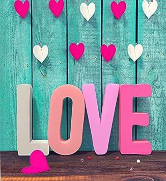 amazon ケイト8 x 8ftマイクロファイバーbackdrops happy valentine s
