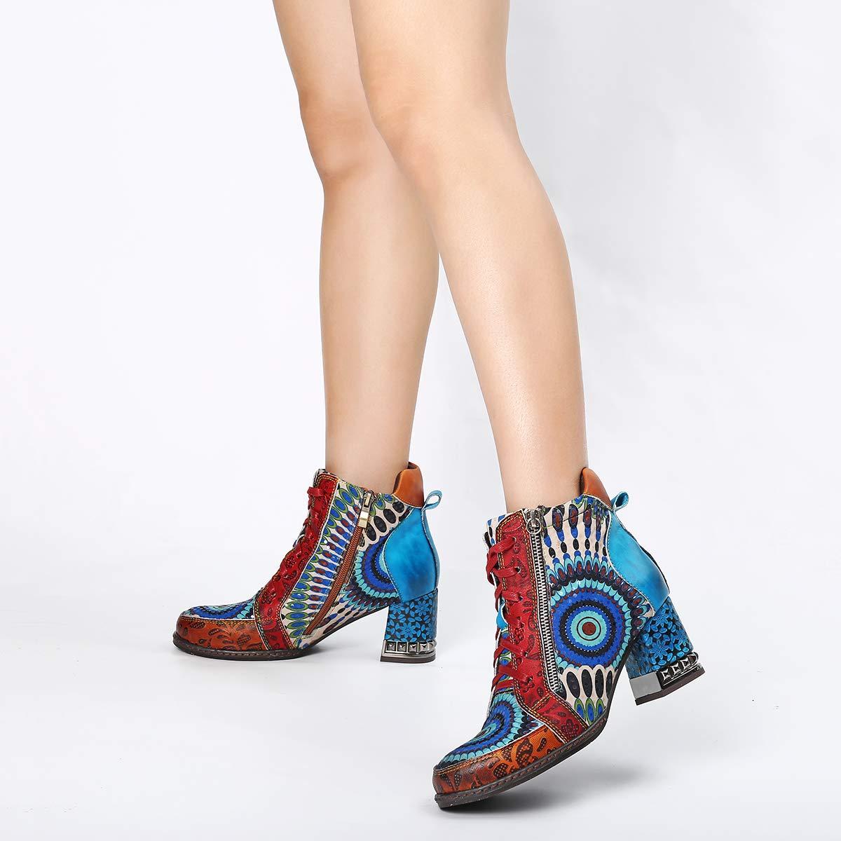 6f958a49d8940d Chaussures Bottes Hiver en Cuir avec Fourrure Chaude à Talons Hauts  Confortables Chaussures de Ville Hiver ...