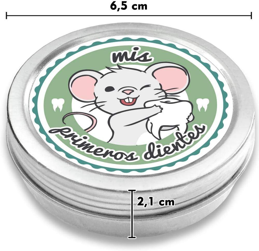 Ratoncito P/érez Caja para guardar los dientes de beb/és color: azul e-book gratis incluido FANS /& Friends Caja para dientes de leche con medalla para ni/ños y ni/ñas