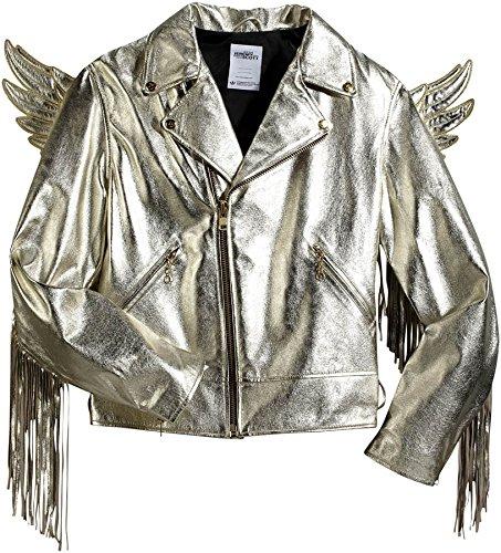 Adidas Men's Jeremy Scott JS Gold Wings Leather Jacket, X29880, Size - Gold Scott Jeremy