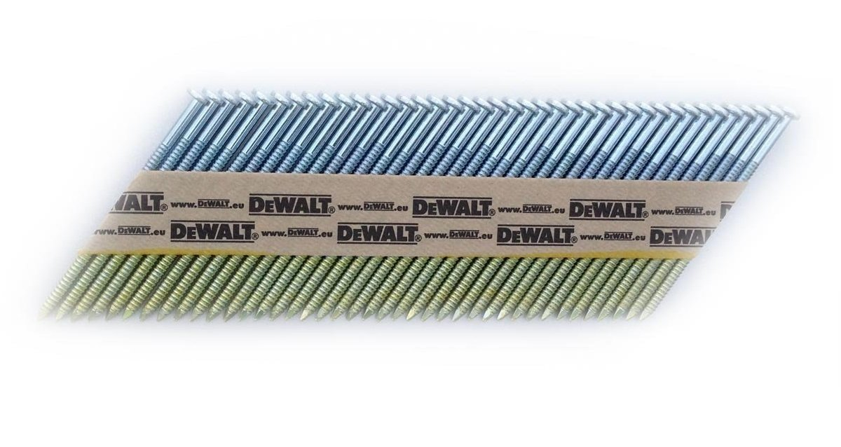 DeWalt 34 Grad Nagel (fü r Akku-Nagler, D-Kopf-Nä gel, drahtgebunden 2,8 x 63 mm glatt, 2200 Stü ck) DNW2863E