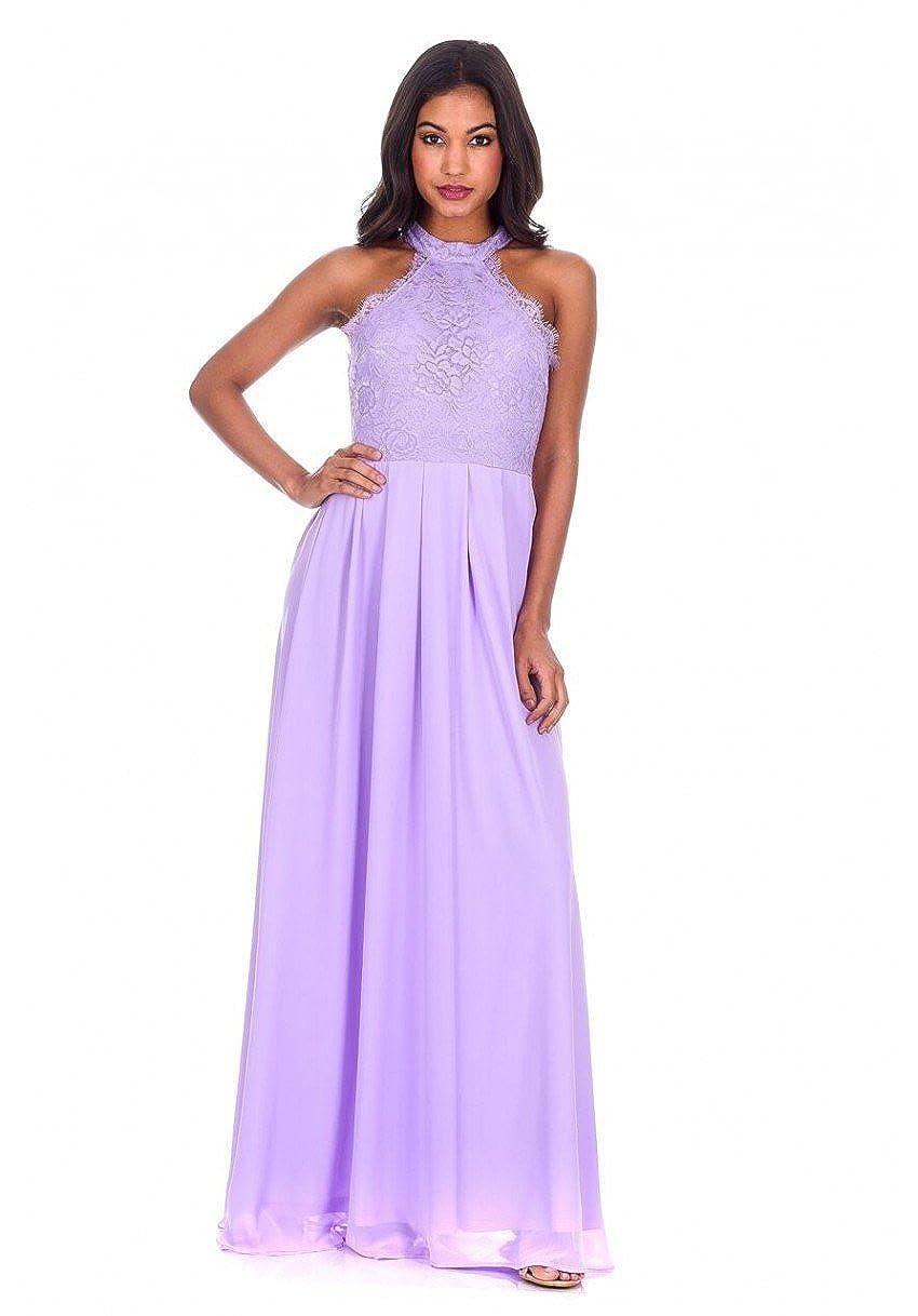 062c612fe6 AX Paris Women s Lace Choker Neck Maxi Dress at Amazon Women s Clothing  store
