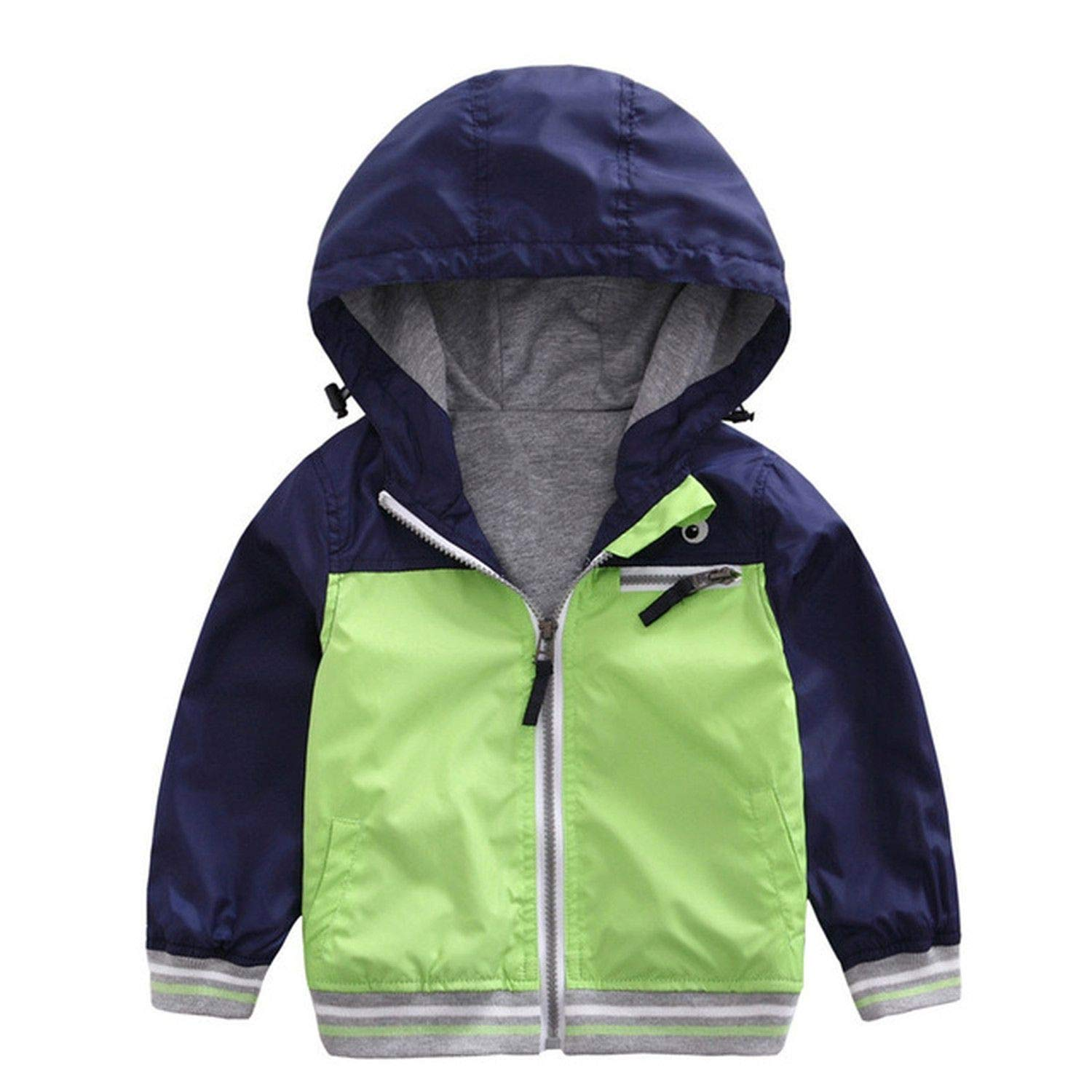 96ee62dc0 Amazon.com: Kids Toddler Boy Jacket Coat Spring Autumn Hooded Windbreaker  Outfits Children Outerwear Baby Blazer: Clothing