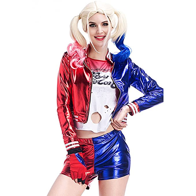 Amazon.com: Es Unico Harley Quinn Costume for Adult Women ...