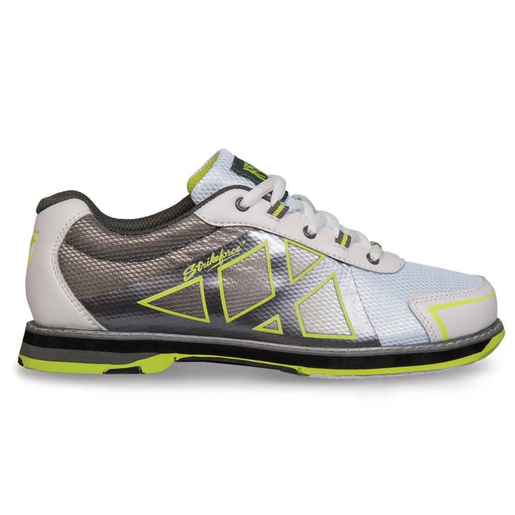 KR Strikeforce L-049-095 Kross Bowling Shoes, White/Grey/Yellow, Size 9.5 by KR Strikeforce