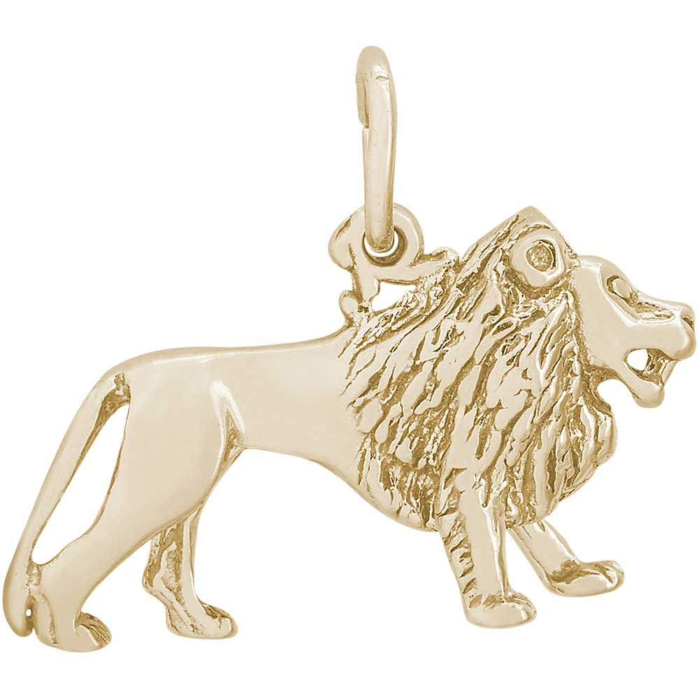 Rembrandt Charms Lion Charm, Gold Plated Silver