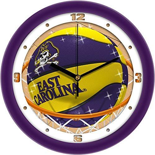 SunTime NCAA East Carolina Pirates Slam Dunk Wall Clock