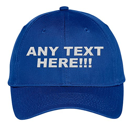 - Design Your Own Hat, Personalized Text, Custom Ball Cap, Embroidered with Color Choices (Royal)