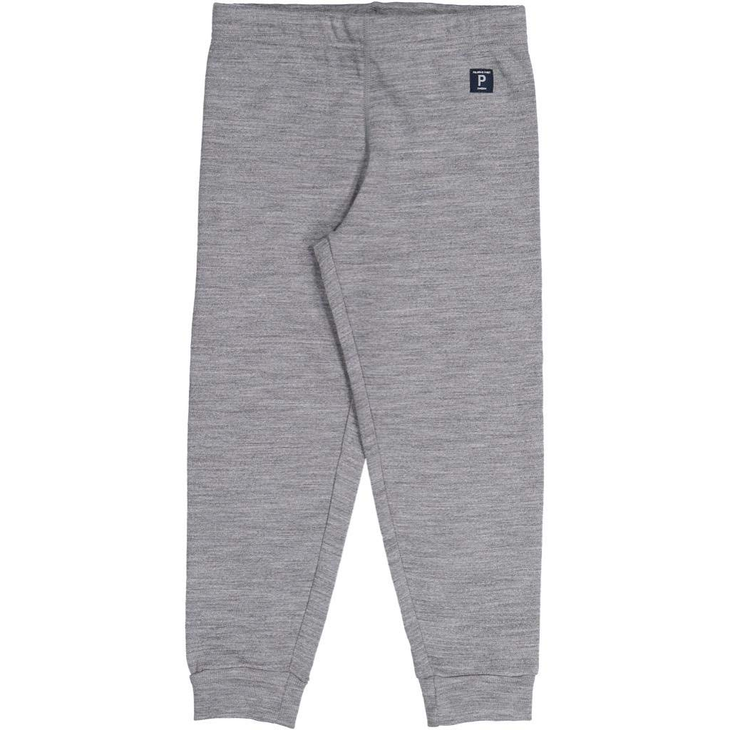 Polarn O. Pyret Soft Wool Terry Pull ON Pants (2-6YRS) - Grey Melange/4-6 Years by Polarn O. Pyret