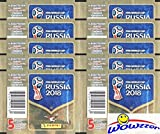 #5: 2018 Panini FIFA World Cup Russia Collection with 10 Factory Sealed Sticker Packs with 50 Stickers! Look for Top Superstars including Lionel Messi, Cristiano Ronaldo, Neymar Jr. & Many More! WOWZZER!