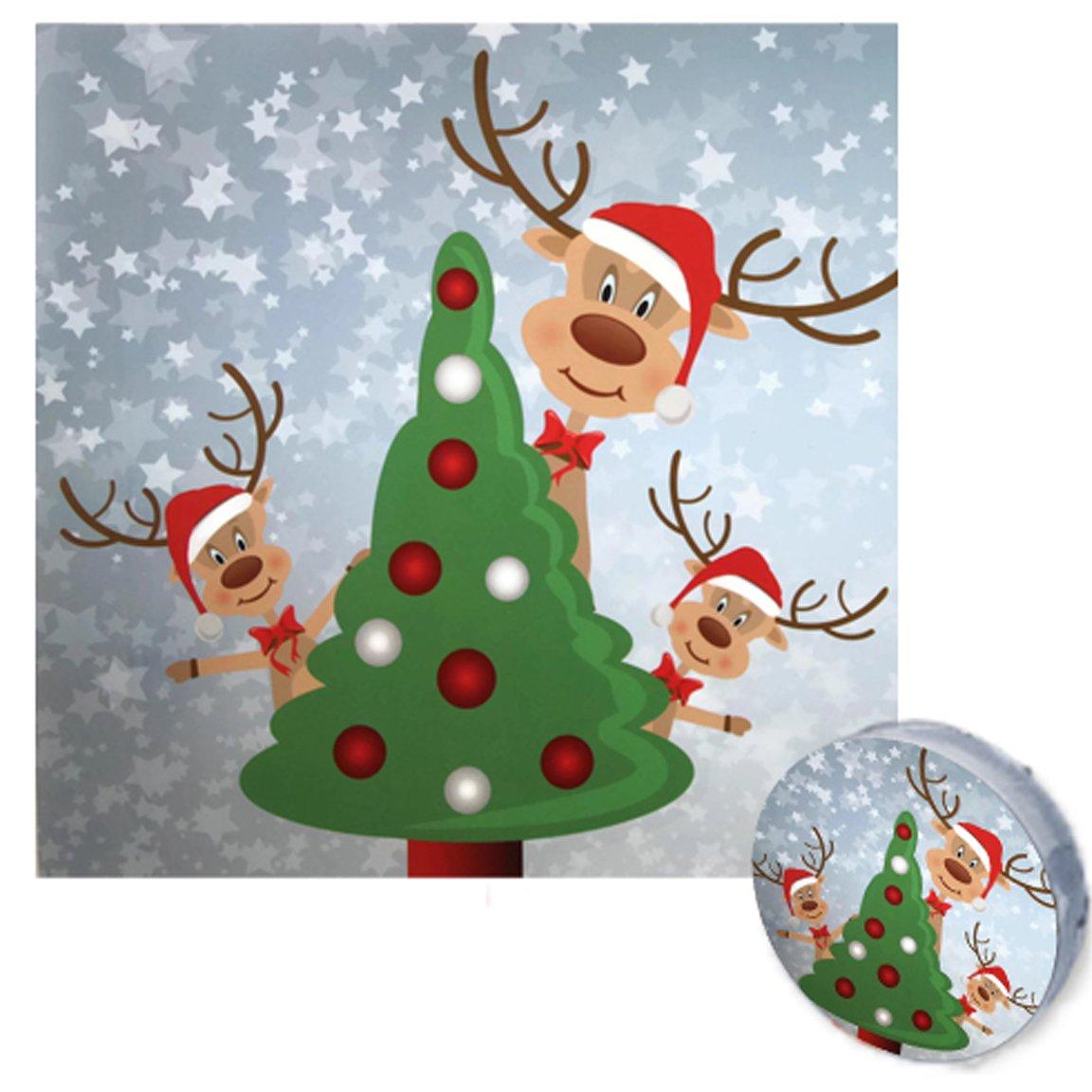 Bada Bing mágico Toalla 30 x 30 Reno Rudolph 3 modelos surtidos Navidad calendario de Adviento regalo regalo: Amazon.es: Hogar