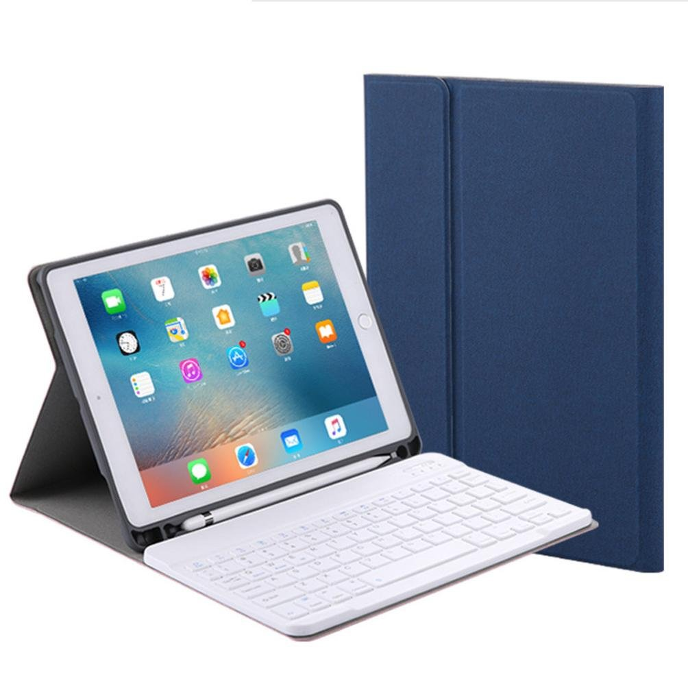 cywulinワイヤレス取り外し可能Bluetooth 3.0キーボード、折りたたみ式超スリム充電式キーボードfor Ipad Pro 10.5インチ Bluetooth Keyboard without backlit ブルー B07D58K6PC ブルー Bluetooth Keyboard without backlit