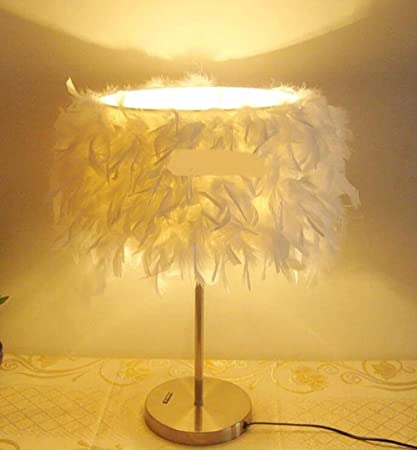 Amazon.com: NEW Table Lamps Feather Lamp Living Room Lamp Bedroom ...