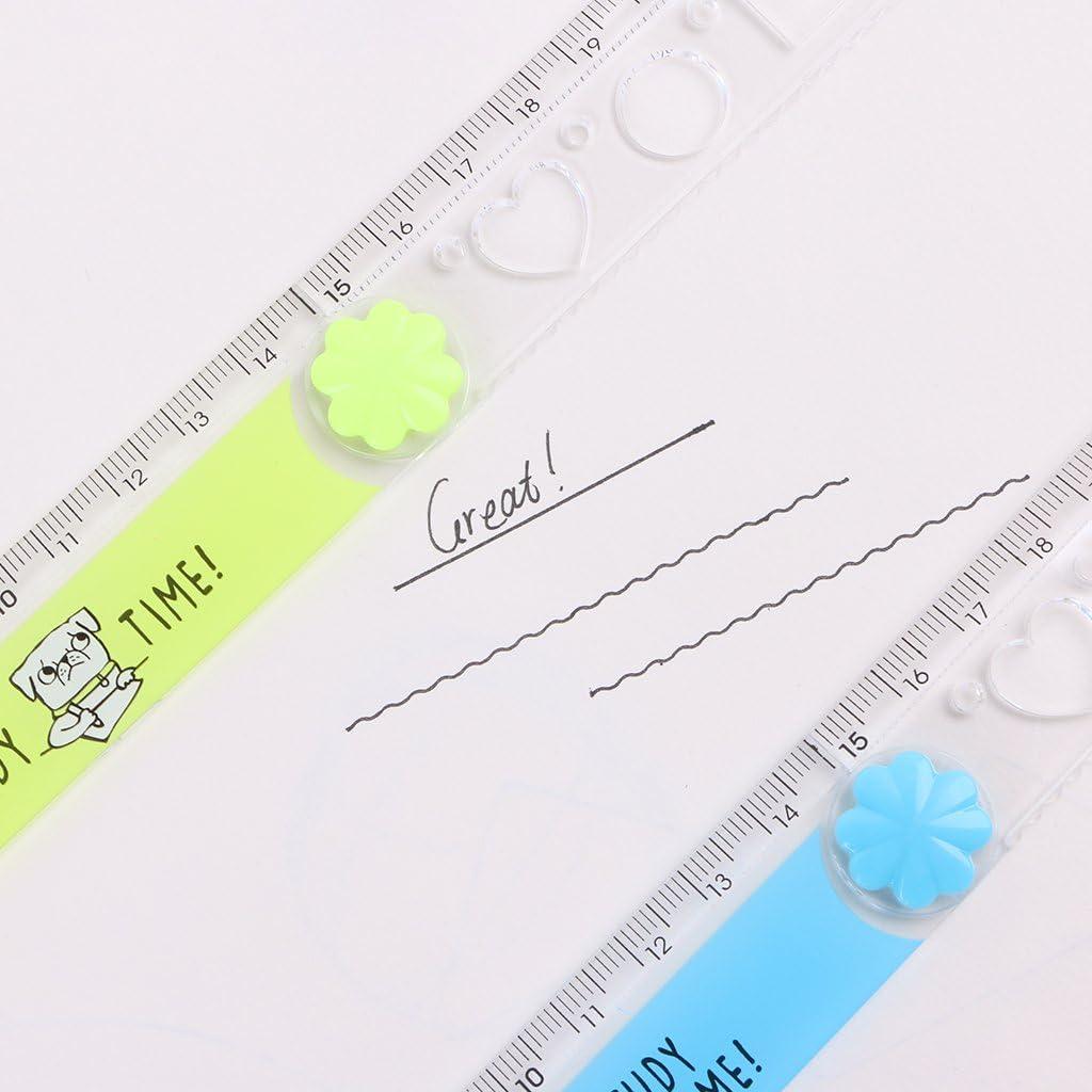 Cher9 30cm Korean Folding Ruler Plastic Drawing School Stationery Students Kids Gifts