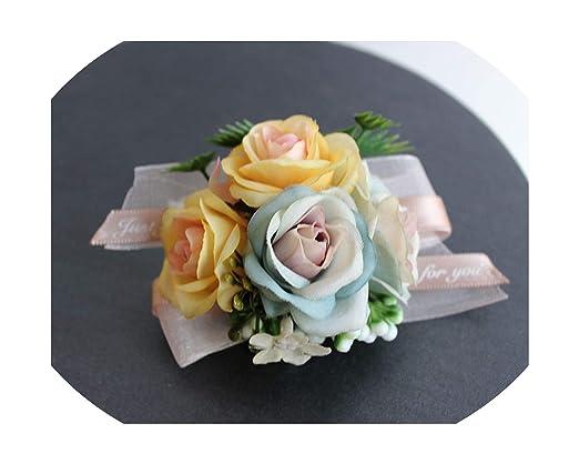 First Ring-Wrist Flower Ramillete de Rosas Artificiales de ...