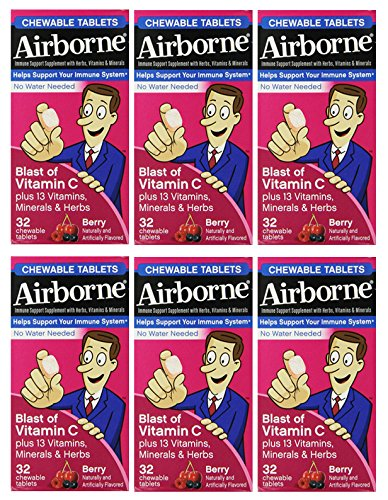 Airborne Chewable Tablets Flavored 32 Count product image