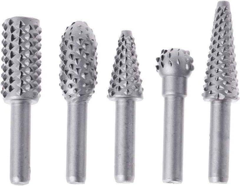 A0127 5pcs fraise metal Jeu de foret Fraise rotative Carbure c/ément/é Perceuse /électrique /à bois gris