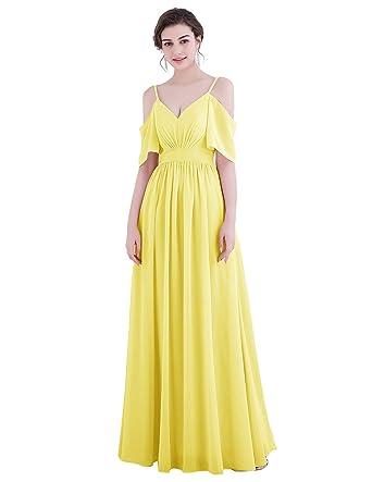 94e7fdf649378 Dresstell レディーズ ロング丈 ブライズメイドドレス 結婚式ドレス フリル袖 紐付き お呼ばれ フォーマルドレス