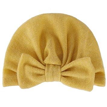 ad3726b477c4e GROOMY Bebé Niña Invierno Turbante de Punto Sombrero Imitación Cachemira  Color sólido Fruncido Elástico Gorro de Gorro Desmontable Gran Oreja de  Conejo ...