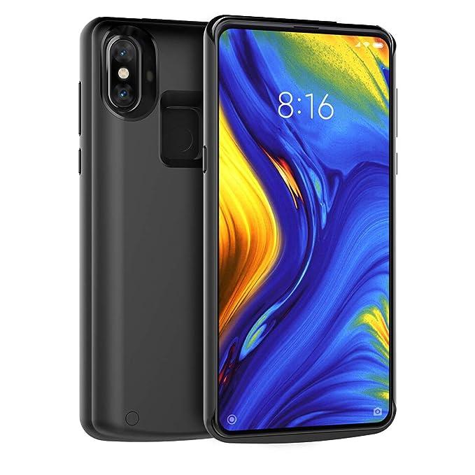 Xiaomi Mi Mix 3 Funda Batería, 5000mAh Batería Recargable Externa Ultra Delgada Protector portátil Carga Caso de Prueba de Choque Banco de energía ...