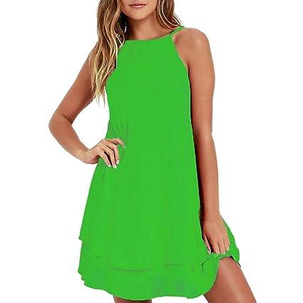 Suela Verano Harness Solid Mini Vestido Mujer by Ba Zha Hei, Vestidos Verano Mujer para