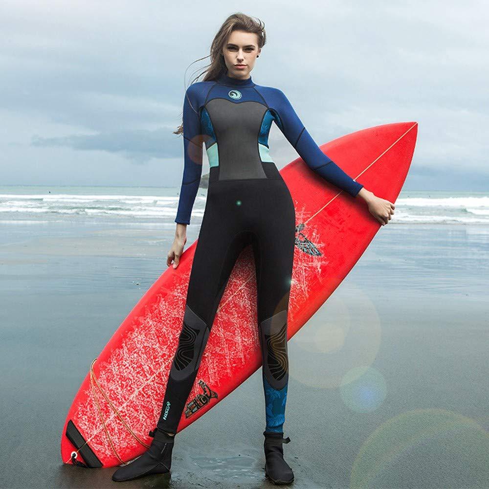 MILIMIEYIK Women's 1.5mm Neoprene Wetsuits Jacket Long Sleeve Wetsuit Top Diving Spearfishing Suit Swimwear Black by MILIMIEYIK (Image #2)