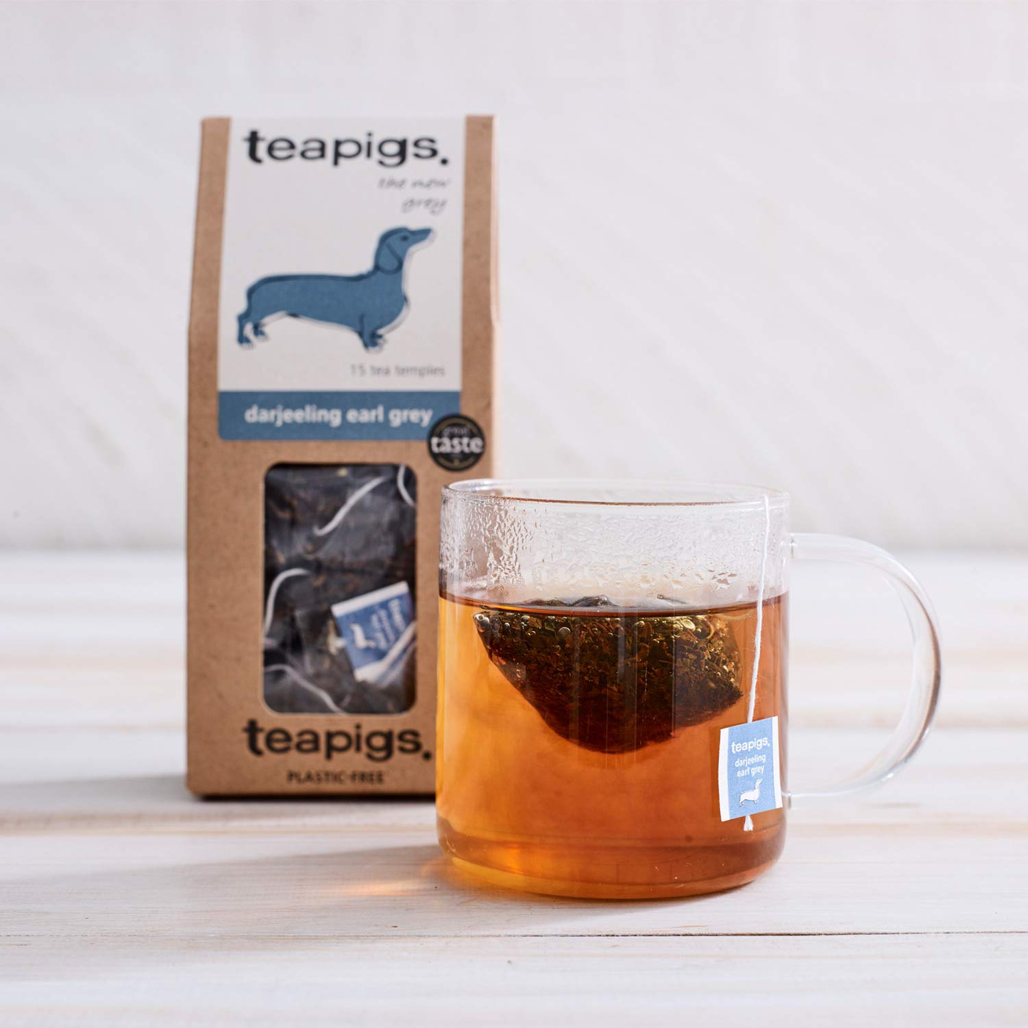 Teapigs Darjeeling Earl Grey Tea Bags Made with Whole Leaves (1 Pack of 50 Tea Bags)