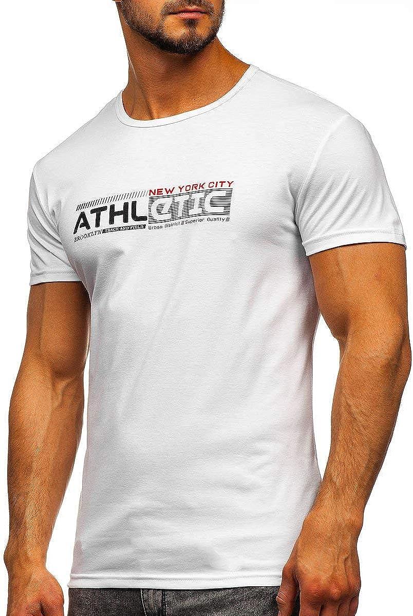 BOLF Hombre Camiseta de Manga Corta Escote Redondo Estampada Crew Neck Entrenamiento Deporte Estilo Diario 3C3: Amazon.es: Ropa y accesorios
