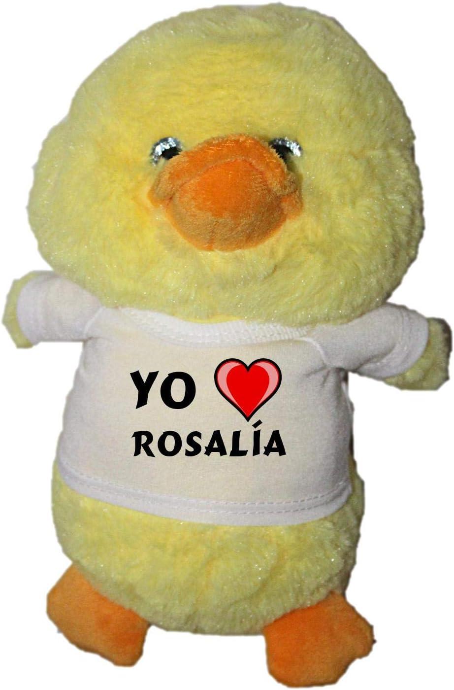 Shopzeus Pato de Peluche (Juguete) con Amo Rosalía en la Camiseta ...