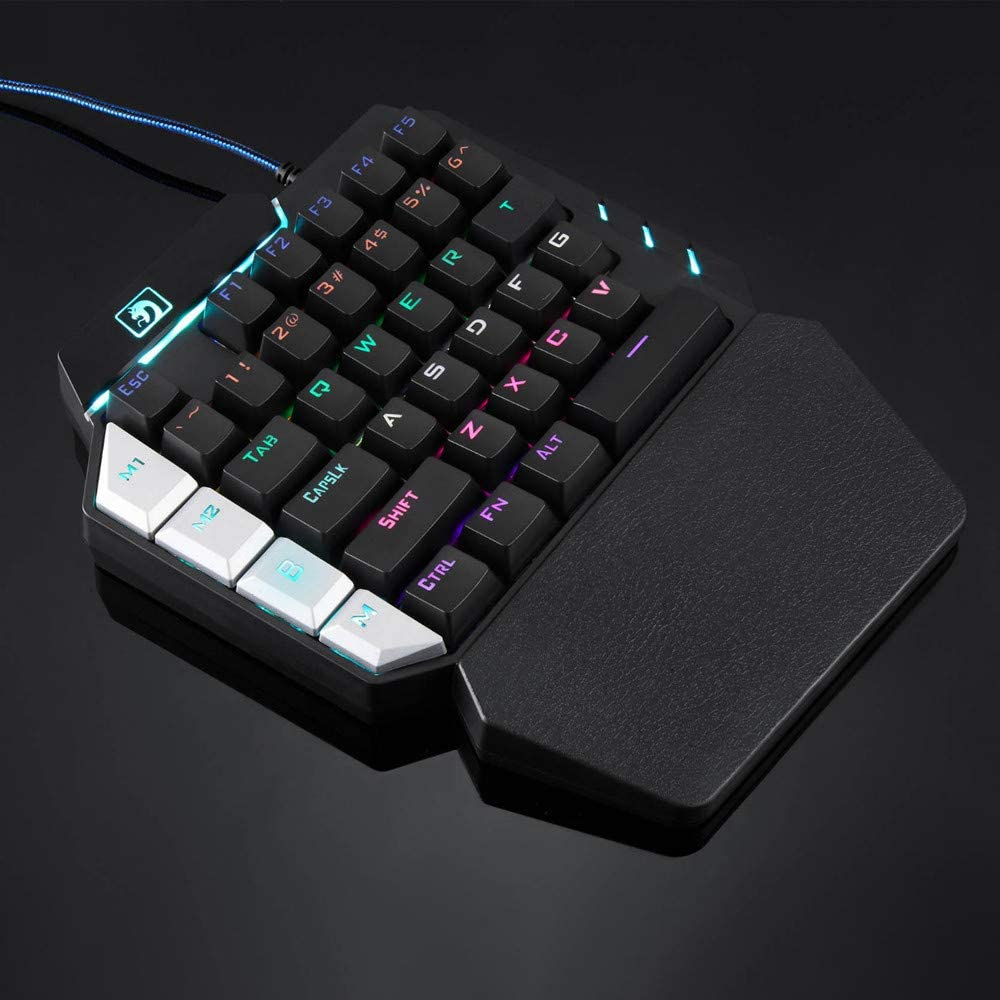 K109 LED Backlit 38 Keys 100/% Anti-ghosting Single Hand Mechanical Gaming Keyboard USB Wired for PUBG LOL Gamer Dacawin Mechanical Keyboard Black, Delivered Within 5 Days
