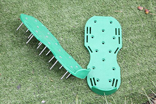 MAXTID Upgraded Lawn Aerator Shoes - with 10 Adjustable Cinch Straps, Heavy Duty Lawn Spiked Soil Sandals for Aerating Your Garden or Yard (1 Pair) Universal Size by MAXTID (Image #7)