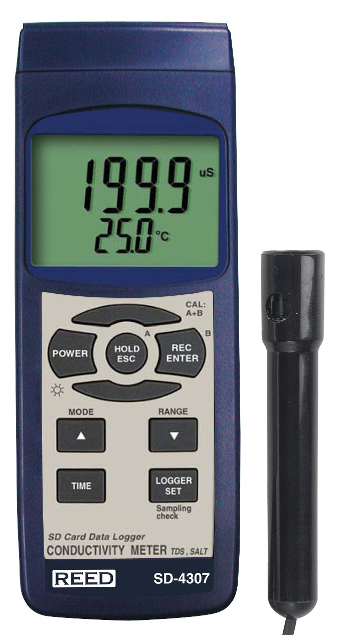 REED Instruments SD-4307 SD Series Conductivity/TDS/Salinity Datalogger by REED Instruments