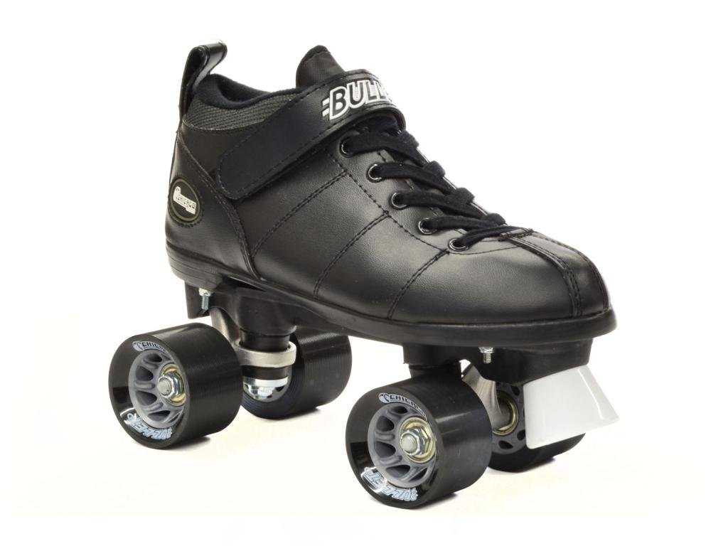 Chicago Bullet Quad Speed Skates Black with Black Laces