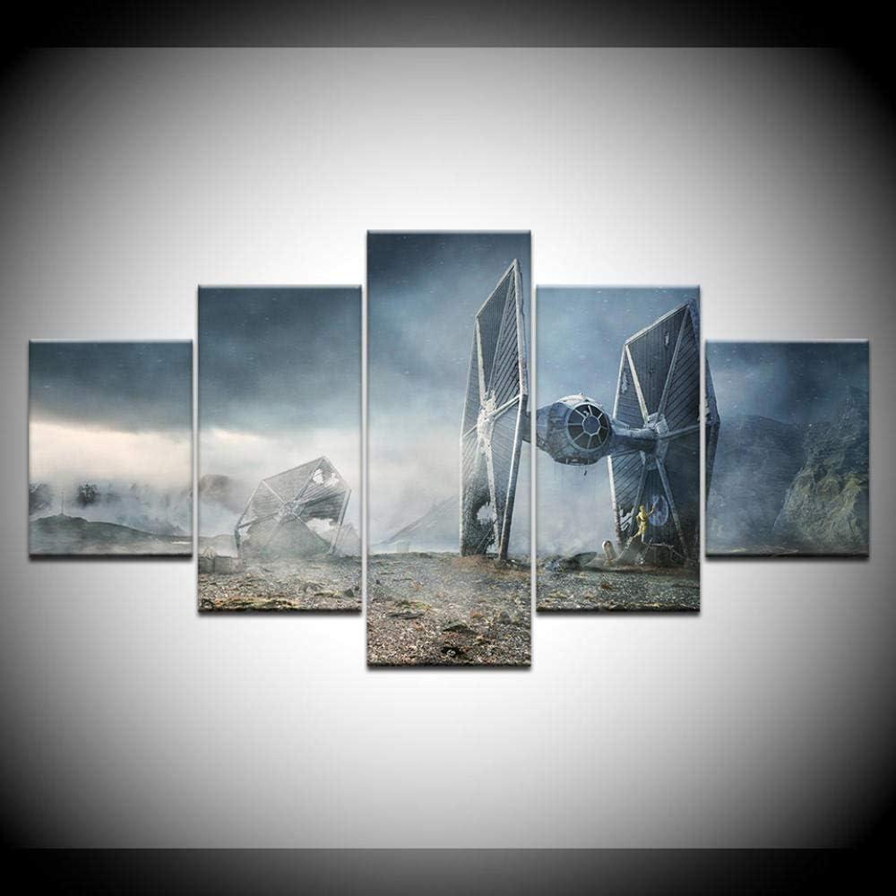 Amazon Com Jgayhka 5 Panels Movie Star War Destroyer Canvas