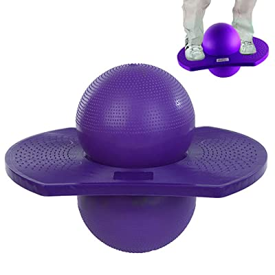 B bangcool Hop Ball Non-Slip Thickening Balance Jump Ball Exercise Ball for Kids Adults: Toys & Games