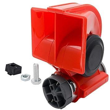 Car Motorcycle 12v Nautilus Compact Loud Air Horn Twin Tone