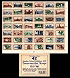 Canada Lafreniere cc0270 Canadian National Exhibition Complete Se-tenant Sheet of forty-two featuring Canadian Landmarks with original envelope. Unused