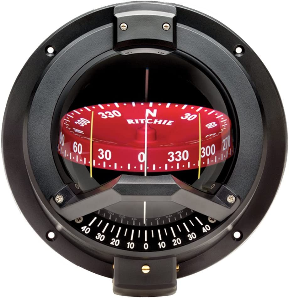 """Ritchie Compass, Bulkhead, 4.5"""" Combi w/Inclin. : Boat Compasses : Sports & Outdoors"""