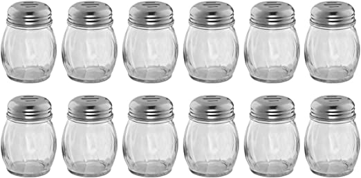 6-Ounce Glass Cheese Shaker with Slotted Top Swirl Glass Cheese Shaker