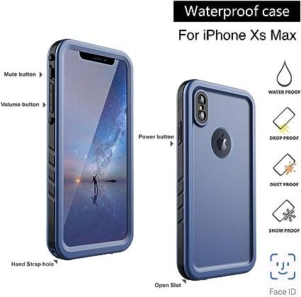 SPORTLINK Funda Impermeable iPhone XS MAX, Waterproof IP68 Carcasa ...