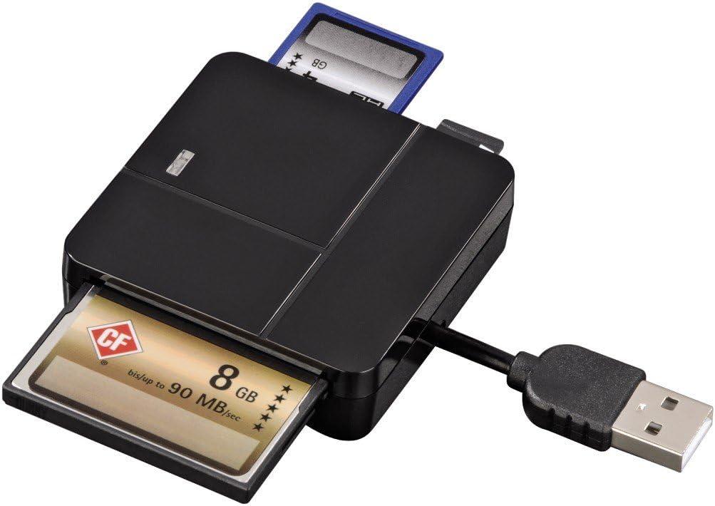 94124 Basic SD//microSD//CFMS//xD black Hama USB 2.0 Multi Card Reader Basic SD//microSD//CFMS//xD black