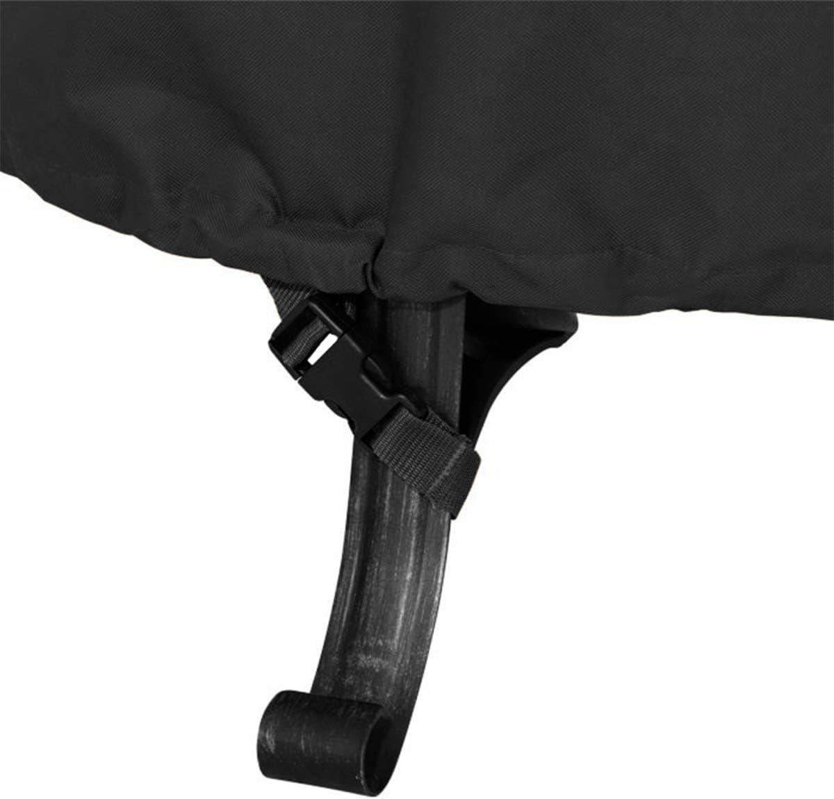 600D Polyester mit Dicker PVC-Beschichtung 111,8 cm runde Feuerschalen-Abdeckung Schwarz 44D/×24H inch wasserdicht Himal Outdoor Feuerschalen-Abdeckung strapazierf/ähig wasserdicht
