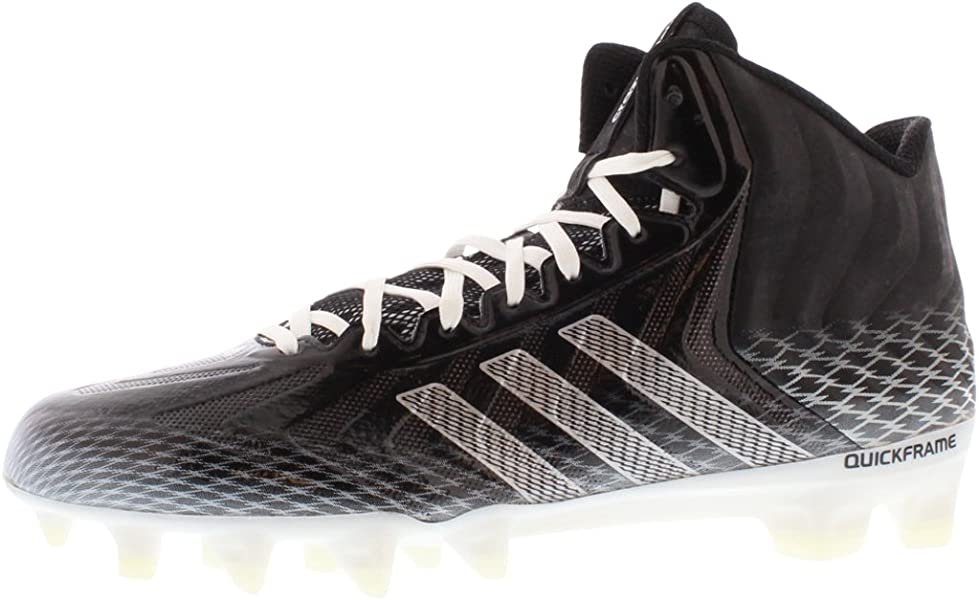 online retailer 8739a 75ae4 adidas Crazyquick Mid Mens Football Cleats 8 Black-White