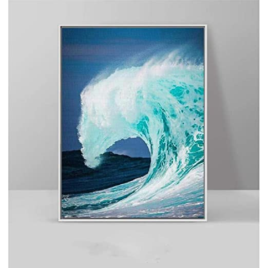 SCLPOSTER Cartel Rolling Waves Surf Sea Landscape Pintura ...