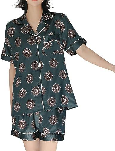 ACEBABY Conjunto de Dos Piezas de Pijamas de Mujer Pijamas Mujer ...