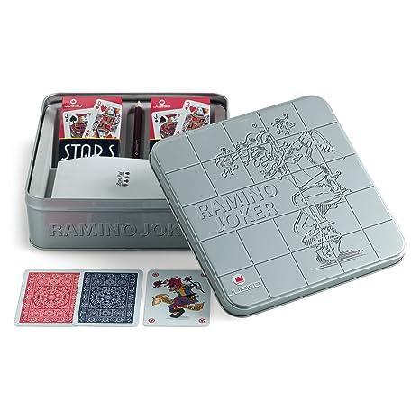 Juego - Cartas Rummy I Cartas en estucho metálico I sociedad (ITA Toys JU00351)