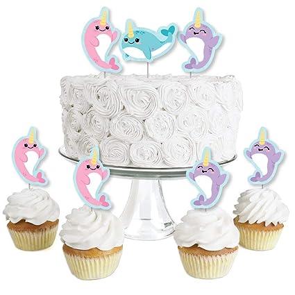 Amazon.com: Narwhal Girl – Adornos para cupcakes de postre ...