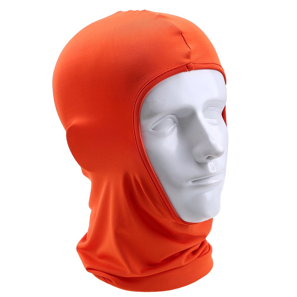 Skiing Snowboarding Motorcycling Outdoor Activities Bike 2pcs Orange Balaclava Mens /& Womens Warm Face Mask Neck Warmer for Motorbike