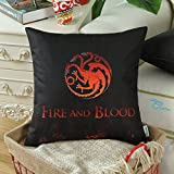 Euphoria CaliTime Home Decor Square Pillow Covers A Game of Thrones House Targaryen Fire And Blood 18 X 18 Inches Both Sides Print